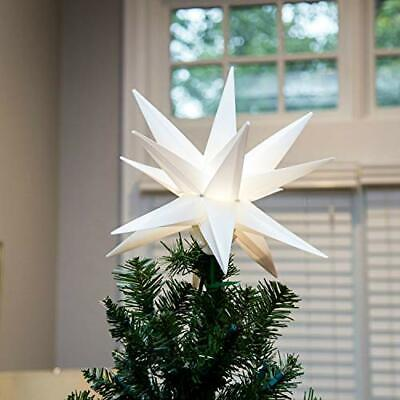 """Elf Logic 12"""" Moravian Star Tree Topper - New 2020 Model NO Assembly Required..."""