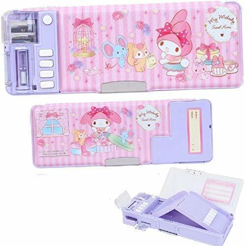 Glitter My Melody Multi Functional 2 Side Holder Pencil Pen Case Box w/Sharpener