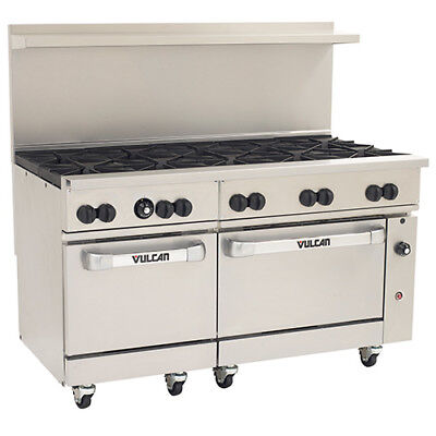 Vulcan Endurance Natural Gas Range - 60w 10 Burners - 2 Std. Ovens