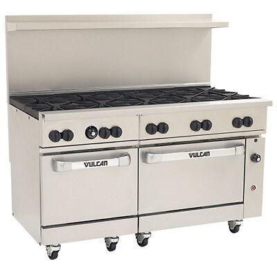 Vulcan Endurance Natural Gas Range - 60w 10 Burners - 2 Std. Ovens