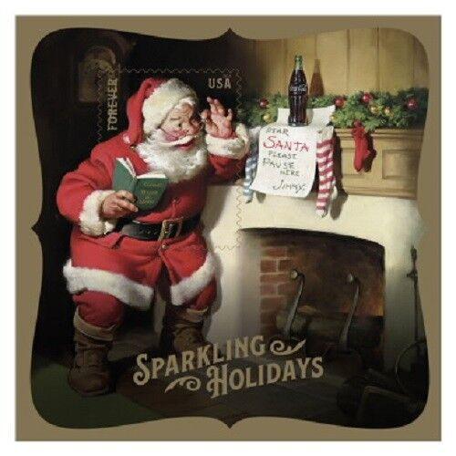 Купить Sparkling Holidays Santa Christmas. Forever Stamps. Book of 20. BONUS Souvenir