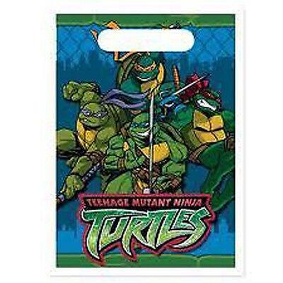 TEENAGE MUTANT NINJA TURTLES FAVOR BAGS (8) ~ Birthday Party Supplies Vintage - Ninja Turtles Party Bags