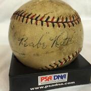 Babe Ruth Signed Baseball