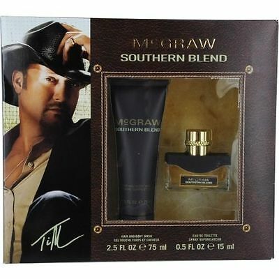 2Pc Gift Set Tim Mcgraw Southern Blend  5Oz Edt   Hair   Body Wash 2 5Oz Nib 70