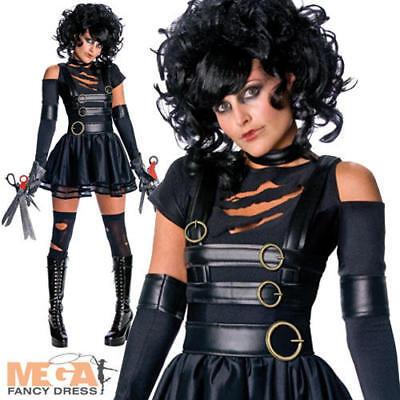 Miss Edward Scissorhands + Wig Fancy Dress Ladies Halloween Womens Costume 6-14](Edward Scissorhands Womens Halloween Costume)