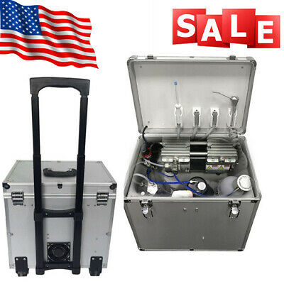 Bd-402a Dental Mobile Delivery Unit Rolling Casecompressor Turbine High Suction