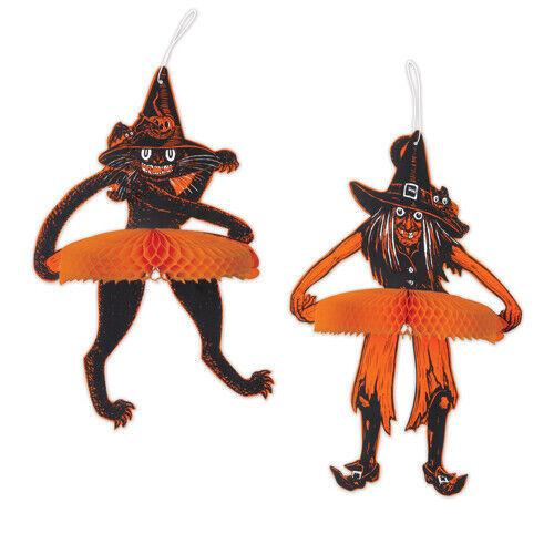 Vintage Halloween Tango Witch & Cat