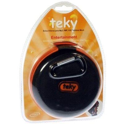 TEKY FUNDA CON ALTAVOZ PARA IPOD, IPHONE, MP3, MP4-REDONDA