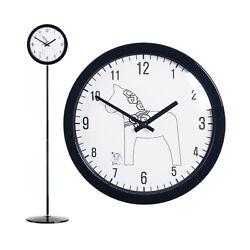 Modern Stand Floor Clock Home Decor Interior Round Separate Stand Clock - Garion