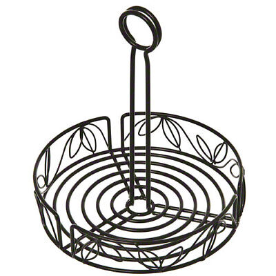 Ironworks Condiment Organizer - Wrought Iron Rack With Leaf Design
