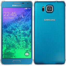 Unlocked Samsung Galaxy Alpha Mobile Phone - 32GB - Blue