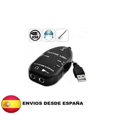 CABLE ADAPTADOR DE USB PARA GUITARRA CONECTAR CON PC o MAC