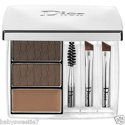 Dior All-In-Brow Long-Wear Brow 3D BackStage Pro Brow Brush Palette 001 Brown