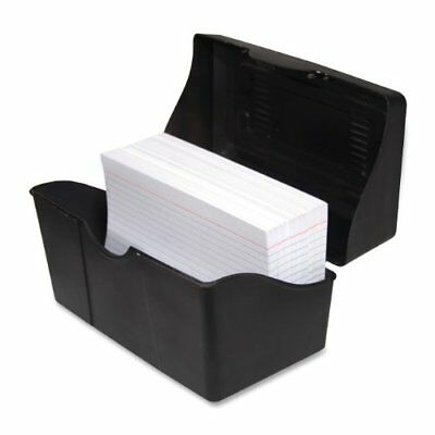 Advantus Index Card Holder - 4.8 X 7 X 4.8 - Plastic - 1 Each Each - Black
