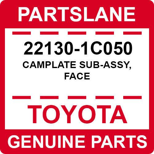22130-1c050 Toyota Oem Genuine Camplate Sub-assy, Face