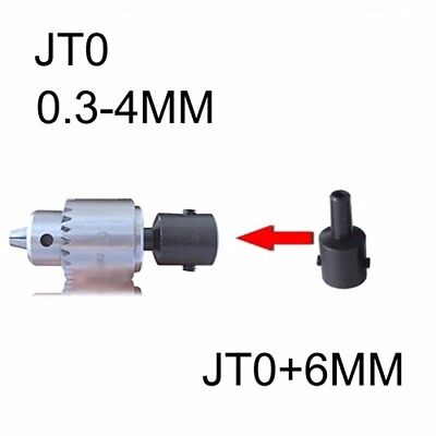 Mini Electric Drill Chuck 0.3-4mm With 6mm Steel Shaft Mount Jt0 Inner Hole