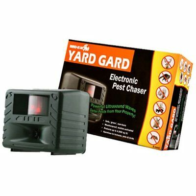Bird-X YG Yard Gard Ultrasonic Animal Repeller Repels Dogs Cats Deer Rabbits New