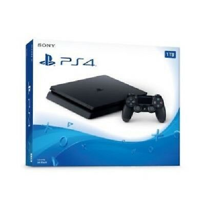 Brand NEW SONY PlayStation PS4 Slim 1TB Jet Black Console System+ Controller NIB