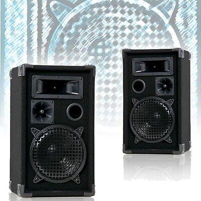 2 Bass Boxen Lautsprecher DJ PA Beschallung Kneipen Event Party 3-Wege 600 Watt 3-wege Lautsprecher