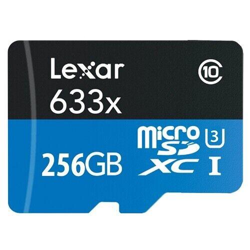 Lexar 256GB 633x microSDXC Class 10 UHS-I Flash Storage Memory Card