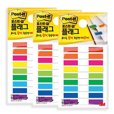 3m Post-it Flag 3 Packs 540 Sheets Bookmark Point Sticky Note - 683-9kp-