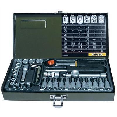 """Proxxon Steckschlüsselsatz 1/4"""" (6,3 mm) 36-teilig, mit Driver-System"""