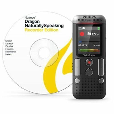 Diktiergerät Philips Aufnahme digital Audio-Recorder 8GB Anthrazit Bürobedarf