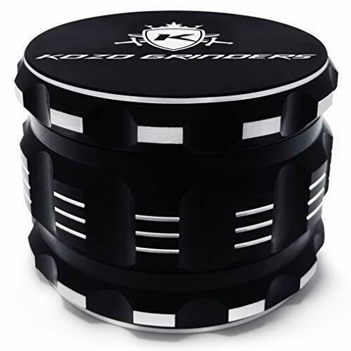 "Best Herb Grinder By Kozo Grinders. Large 4 Piece, 2.5"" Bla"