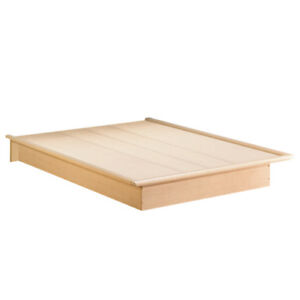 Step One Contemporary Bed - Queen - Maple Brown new in Box