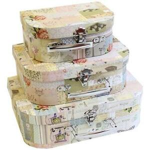 shabby chic boxes ebay. Black Bedroom Furniture Sets. Home Design Ideas