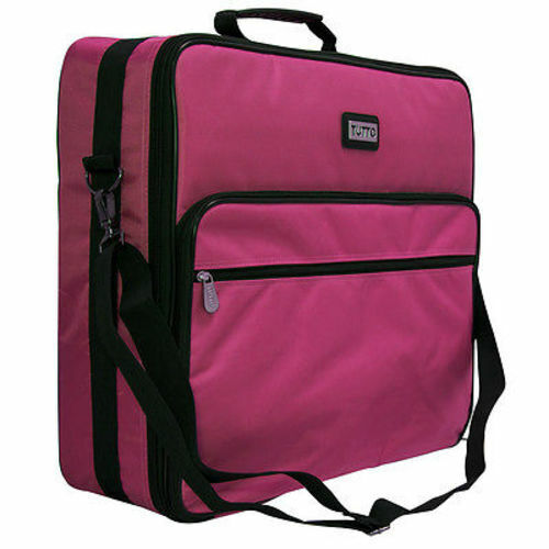 """Tutto 19"""" -- Pink Embroidery Project Bag"""