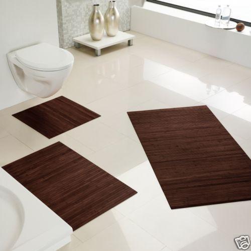 badematte bambus vorleger matten ebay. Black Bedroom Furniture Sets. Home Design Ideas