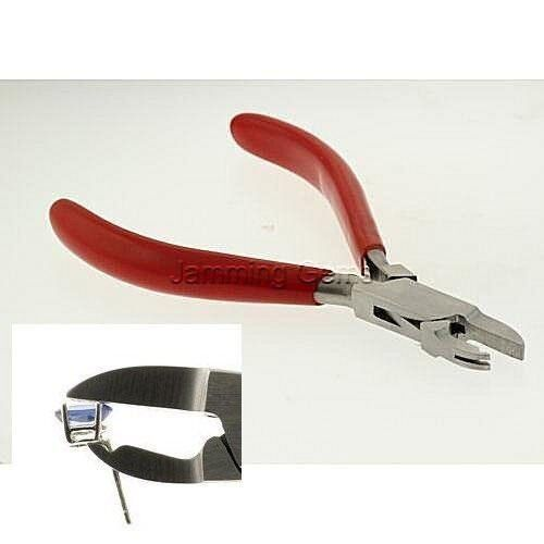 Grooved Gemstone Setting Pliers for Earrings, Rings, and Pendants