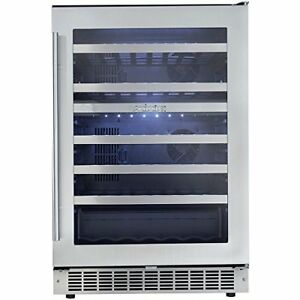 Danby 51 Bottle Silhouette Dual Zone Built-In Wine Cooler on