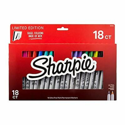 Sharpie 18pc Limited Ultra Fine Point Permanent Magic Marker Pens Box Set Easel
