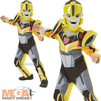 Transformers Bumble Bee Deluxe Boys Fancy Dress Superhero Kids Childs Costume  - Bumble Bee Costume For Boys