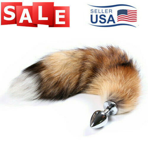 Small Fox Tail W/ Metal Plug Romance Game Funny Toy Cosplay Role Playing USA