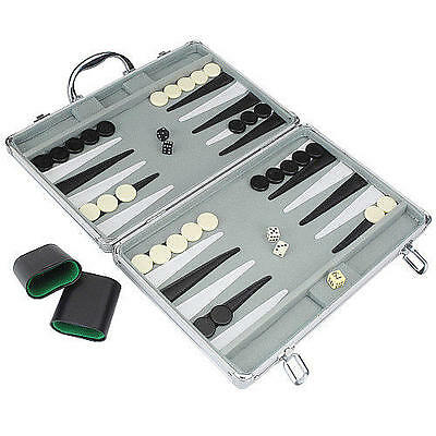 Pavilion Games Deluxe Backgammon Board Game in Aluminum Case