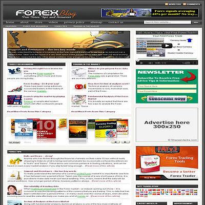 Established Forex Trading Affiliate Website Turnkey Business Free Hosting
