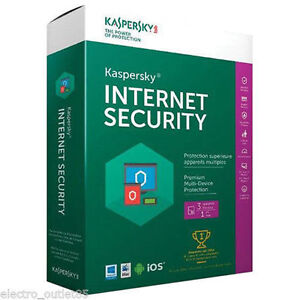 Brand New in Box Kaspersky Internet Security 1 year 3pcs