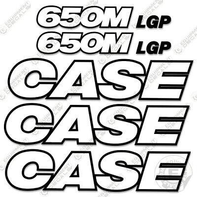 Case 650m Lgp Decal Kit Dozer Crawler Decals - 7 Year 3m Reflective
