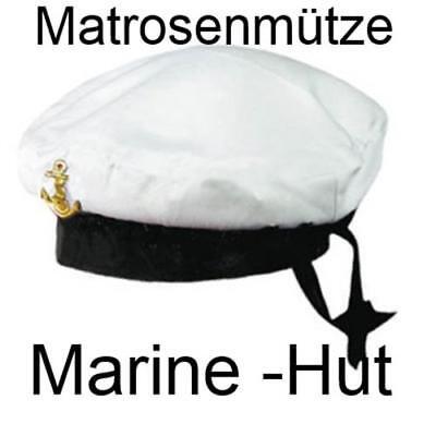 MATROSENMÜTZE , MARINE HUT MIT ANKER ,  MATROSE (Matrose Hut)