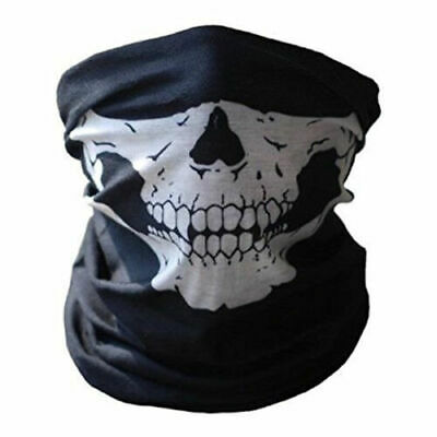 Skeleton Ghost Skull Face Mask Biker Balaclava Costume Halloween Cosplay COD