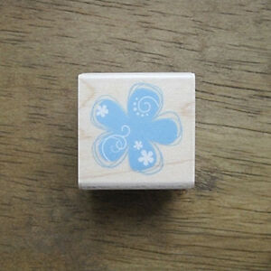 Decorative-Stamps-KODOMONOKAO-Rubber-Stamp-Blue-flower