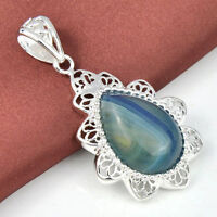 Charming 925 Sterling Silver Pendants with Colorful Stones.