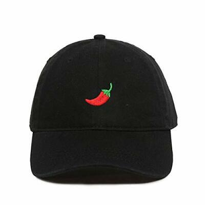 Red Chilli Pepper Baseball Cap Embroidered Cotton Adjustable Dad Hat](Chili Hat)