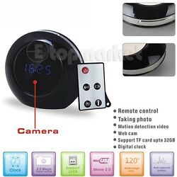 Spy Cam +Remote Hidden Camera Nanny Alarm Clock Mini DVR Remote Smart Camcorder