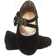 Girls Black Shoes Size 3.5