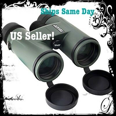 Polaris Optics Natureview 8X32 Compact Green Binoculars for Bird Watching