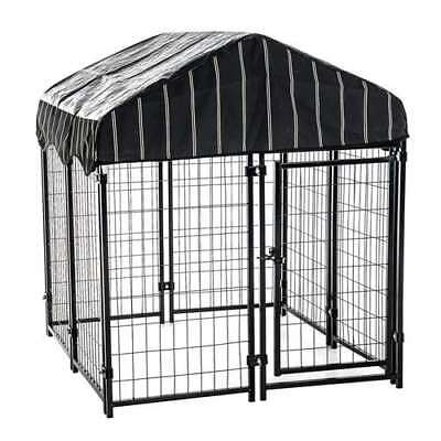 Lucky Dog Modular Pet Play Pen Welded Wire Heavy Duty Dog Cage Kennel (Open Box)